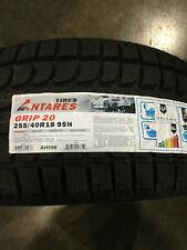 1 New 255 40 18 Antares Grip-20 Snow Tire