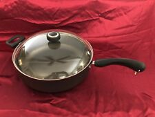 Farberware   Nonstick 12-inch Skillet With Helper Handle and Glass Topped Lid