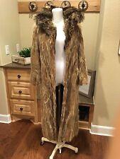 Vintage Tanuki Great Colors Raccon Full Length Fur Coat SIZE SMALL NR LOW START