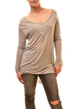 One Teaspoon Women's Authentic Long Sleeve Top Grey Size S RRP $104 BCF84