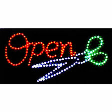 Ultra Bright Led Light Animated Barber Hair Cut Salon Open Business Store Sign