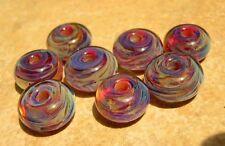 5FISH ~ Handmade Lampwork Boro Spacer Beads ~ Cimeron Sunset
