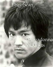 BRUCE LEE #266 B&W 8x10 Photo Chinese Martial Artist Close- Up Portrait