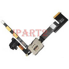 Audio Jack With Sim Reader Flex Cable Ribbon for Apple iPad 2 3G (Black)