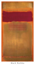 ABSTRACT ART PRINT - Untitled, 1949 by Mark Rothko 40x22 Poster Red Yellow Gold