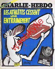 Charlie Hebdo n°481 du 30/01/1980 Coluche Jeux olympiques Reiser Eddy Mitchell