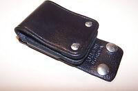 Kenwood KLH-6SW Swivel Belt Loop LEATHER mobile radio holster clip black NEW USA
