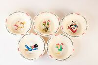 Set of Vtg Kelloggs Cereal Bowls 1994 1995 The Best To You Each Morning 5 Bowls