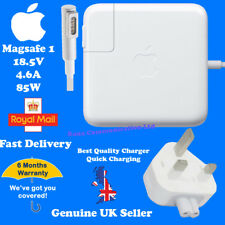 " Apple 85W Macbook Pro 15"" 17"" MagSafe 1 Power Adapter Charger MC556B/C + Plug"