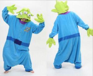 Toy Story Aliens Costume Alien Cosplay Pajamas Jumpsuit Sleepwear Fancy Dress K1