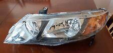 Fits Honda Civic Sedan 06-11 Set of Headlights Headlamps with Amber Park Lights