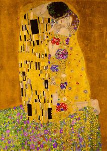The Kiss (1909) Gustav Klimt wall art poster reproduction print home decor