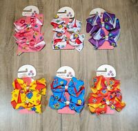 "12 Boutique Girls Kids 4"" Grosgrain Ribbon Hair Bows Alligator Clip Flower 005"