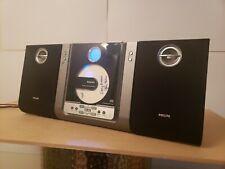 New listing Philips Mc235B/37 Micro System Shelf Cd Player Am Fm Radio w/Detachable Speakers
