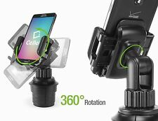 NEW Universal Car Cup Holder Cell Phone Case Mount Apple iPhone 6 & Plus & Droid