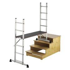 MAXCRAFT Plataforma de Trabajo Móvil de Aluminio, Andamio Multifunción