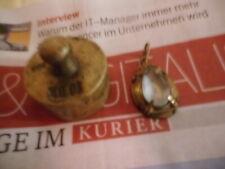 Schmuck Zionismus Messing gefärbter Topas mit Silber-Vergoldet Platte