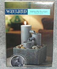 Wayland Square Tranquility Fountain Tealight meditation AA batteries rocks NEW