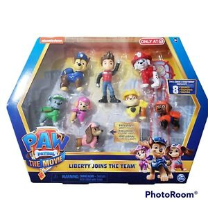 Paw Patrol The Movie Liberty Joins the Team Figure Set 8 toys NEW Target