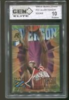 1996-97 Allen Iverson Skybox Z-Force #151 Gem Elite 10 Pristine RC Rookie 76ers