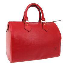 LOUIS VUITTON SPEEDY 30 HAND BAG PURSE RED EPI LEATHER M43007 SP0966 AK44494