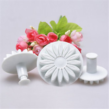 3pcs Sunflower Sugarcraft Plunger Cutter Mold Christmas Gift Decor Tool New