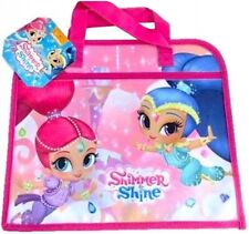 Shimmer & Shine Book Bag Document Holder Childrens Character Bags School Nursery