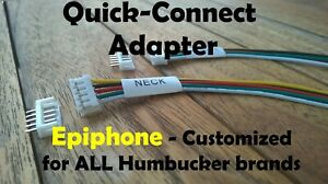2 Quick Connect Adapters for Epiphone - ALL Pickup Brands - Customized