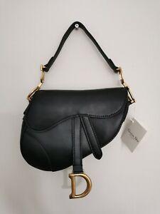 Christian Dior Saddle Bag - Black Leather