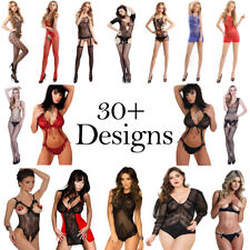 Lingerie Lace Babydoll Sexy Open Bra Crotch Bodystocking Nightwear Sex Set Women