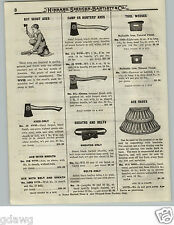 1919 PAPER AD Firemen's Coal Mine Miners Store Rack OVB Our Very Best Axe Stand