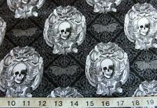 Halloween gothic skull fabric by Michael Miller 100% cotton sold by fat quarter