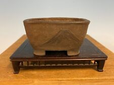 Unique And Rare Shohin Size Bonsai Tree Pot By Seikan 3 15/16� Deceased Artist