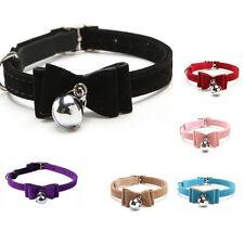 Schleife Katzenhalsband Lederhalsband Katze Halsband Halsbänder mit Schelle