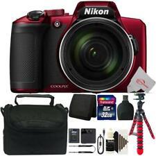 Nikon COOLPIX B600 Digital Camera (Red) + 32GB Accessory Kit