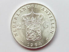 L1621     NIEDERLANDE / ANTILLEN 2 1/2 Gulden 1964