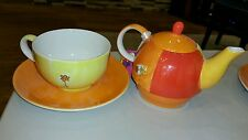 Vintage? mila design with a smile tea set for one with orig tag - perfect teapot