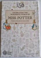 2016 Beatrix Potter Peter Rabbit 50p 50 Fifty Pence  Coin Album Folder UK New