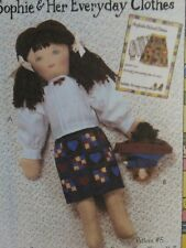 """McCall's Pattern-18"""" DOLL CLOTHES-Sophie's BLOUSE-SKIRT-Topsy Turvey DOLL-UNCUT"""
