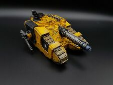 Warhammer 30k Imperial Fists FW Sicaran Venator Magnetized Pro Painted R3S1B1