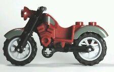 LEGO Minifigure Motorcycle Dirt bike Dark Red Bluish gray trim riding cycle