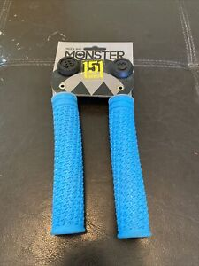 Redline Monster 151mm Flangeless Grips with Plugs, Light Blue
