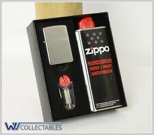 ZIPPO Benzin Feuerzeug Chrome incl Feuerzeugbenzin  Leather Zippo Lighter Belt