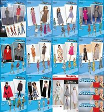 Simplicity Sewing Patterns Misses' Project Runway Dresses Jackets Coats Jumpsuit