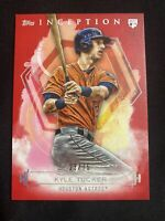 2019 Topps Inception Kyle Tucker Red Rookie Card RC #23/75 Astros