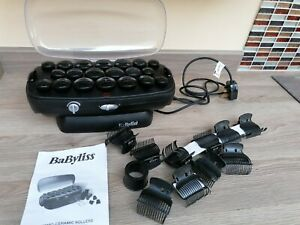 Babyliss Black Thermo Ceramic Heated Hair  Rollers  electric curlers no pins