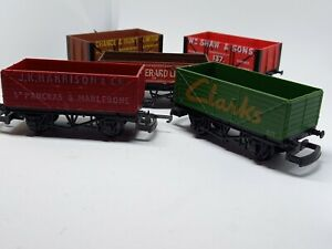 JOB LOT OF VINTAGE RAILWAYS WAGONS x5(SET 1).Hornby , Lima & Mainline