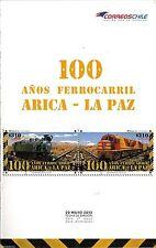 Chile 2013 Brochure 100 años Ferrocarril Arica - La Paz - Train