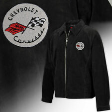 Mens C1 Corvette Regular Length Suede Bomber Jacket - BLACK 604824