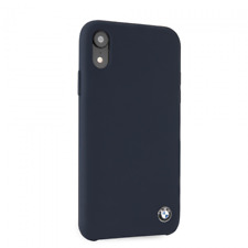 BMW Silicone Hard Case for iPhone XR Navy Drop Protection
